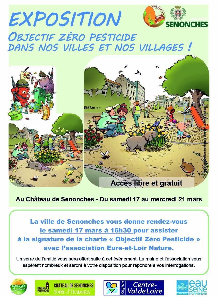 Exposition «Objectif zéro pesticide» du 17 au 21 mars et signature de la charte